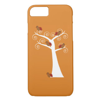 Five Thanksgiving Turkeys in a Tree iPhone 7 Case