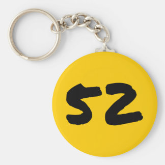 """Five-Two 2.25"""" Basic Button Keychain"""