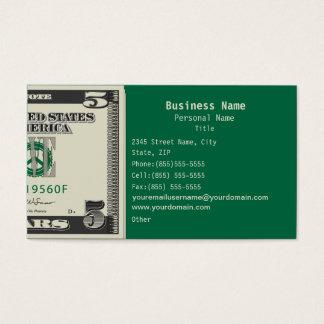 Five US$ Finance Business Business Card