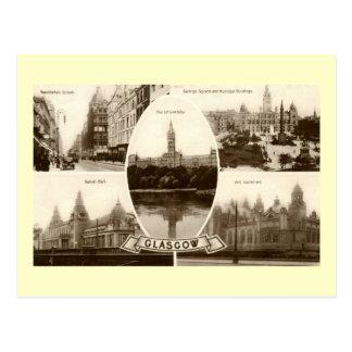 Five Views of Glasgow Scotland Vintage Postcard