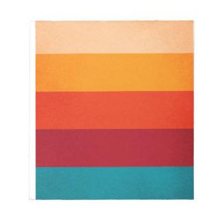 Five Vintage Color Pattern Notepad