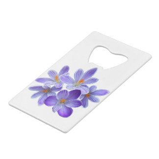 Five violet crocuses 05.0, spring greetings