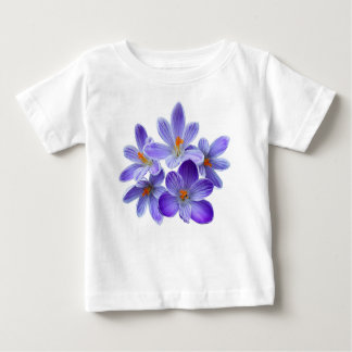 Five violet crocuses 05.0, spring greetings baby T-Shirt