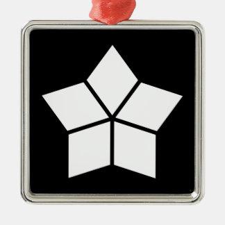 Five water caltrops (ten percentage drawing) metal ornament