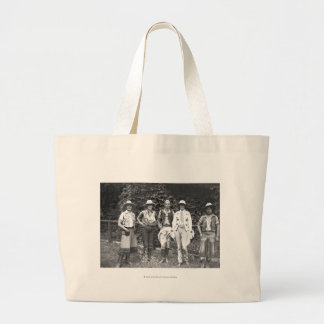 Five women at the dude ranch large tote bag