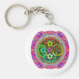 FiveStar *****5STAR***** Selections Basic Round Button Key Ring