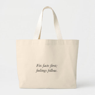 Fix Facts First Jumbo Tote