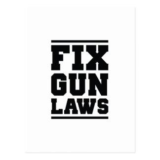 Fix Gun Laws Postcard