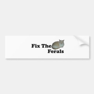 Fix The Ferals Bumper Sticker