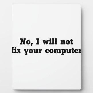 Fix Your Computer Plaque
