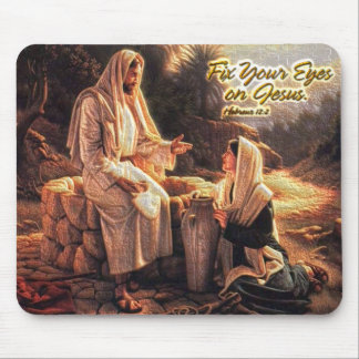 Fix Your Eyes on Jesus 1 Mouse Pad