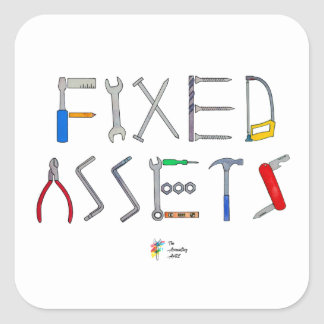 Fixed Assets Funny Accounting Sticker