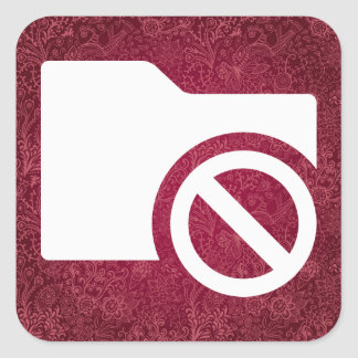 Fixed Folders Minimal Square Sticker