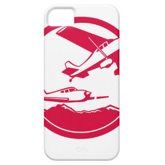 Fixed Wing Aircraft Taking Off Circle Retro Case For The iPhone 5