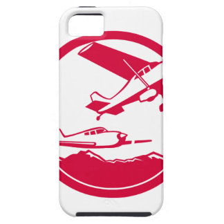 Fixed Wing Aircraft Taking Off Circle Retro Tough iPhone 5 Case