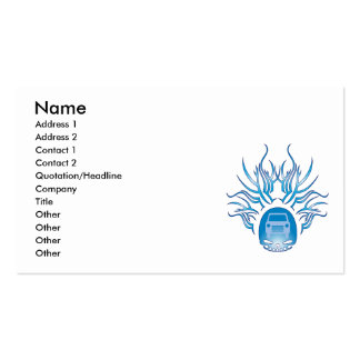 Fixing Cars Skull Business Card Template
