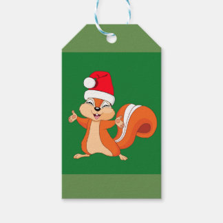 Fizzy the Playful Squirrel at Christmas Gift Tags