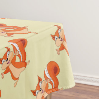 Fizzy the Playful Squirrel Tablecloth