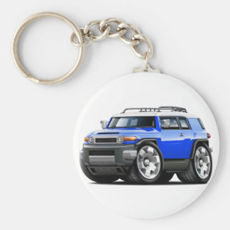 Fj Cruiser Blue Car Basic Round Button Key Ring