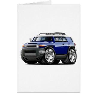 Fj Cruiser Dark Blue Car Greeting Card