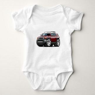 Fj Cruiser Maroon Car Baby Bodysuit