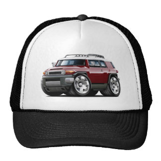 Fj Cruiser Maroon Car Mesh Hats