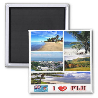 FJ - Fiji - I Love Square Magnet