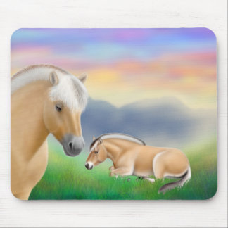 Fjord Horses at Rest Mousepad