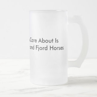 Fjords and Coffee Frosted Glass Beer Mug