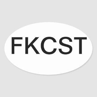 FKCST OVAL STICKER