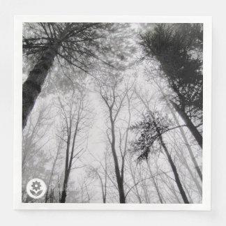 FʟᴏᴡPᴏᴡ | Wood ~ Greyscale Paper Napkin