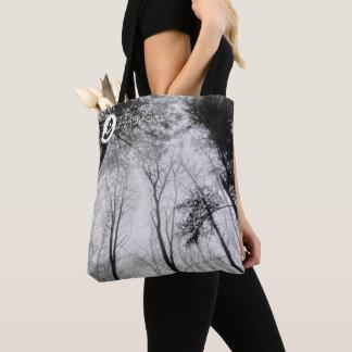 FʟᴏᴡPᴏᴡ | Wood ~ Greyscale Tote Bag