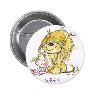 FL-002 Puppy Love 6 Cm Round Badge