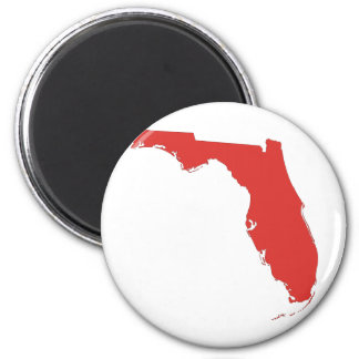 FL a RED State 6 Cm Round Magnet