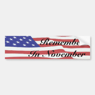 flag3,     RememberIn November Bumper Sticker