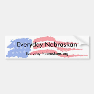 flag4, Everyday Nebraskan, Everyday Nebraskans.org Bumper Sticker