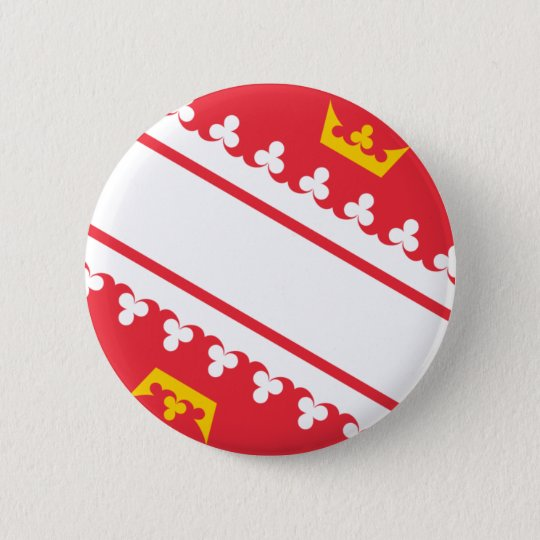 Flag Alsace (France) Drapeau Alsace Flagge Elsass 6 Cm Round Badge