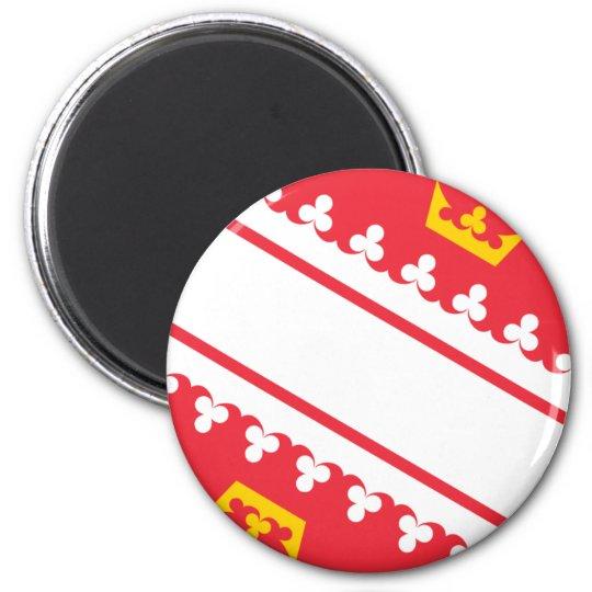 Flag Alsace (France) Drapeau Alsace Flagge Elsass 6 Cm Round Magnet