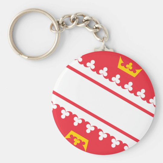 Flag Alsace (France) Drapeau Alsace Flagge Elsass Basic Round Button Key Ring