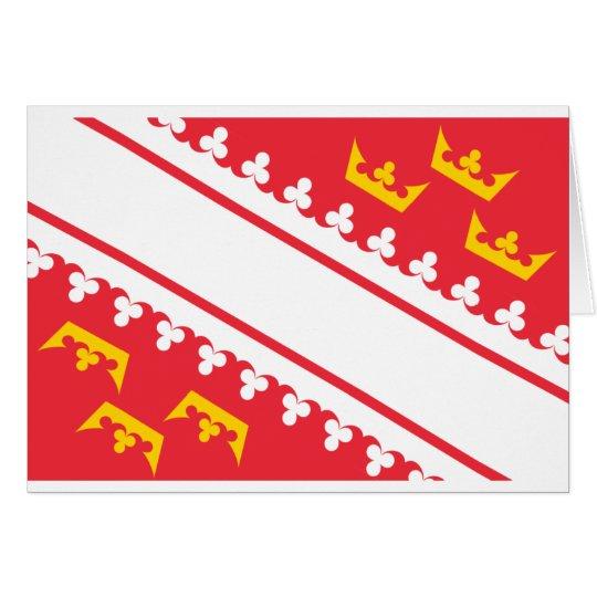 Flag Alsace (France) Drapeau Alsace Flagge Elsass Card