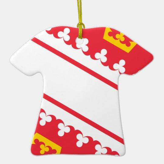 Flag Alsace (France) Drapeau Alsace Flagge Elsass Ceramic T-Shirt Decoration
