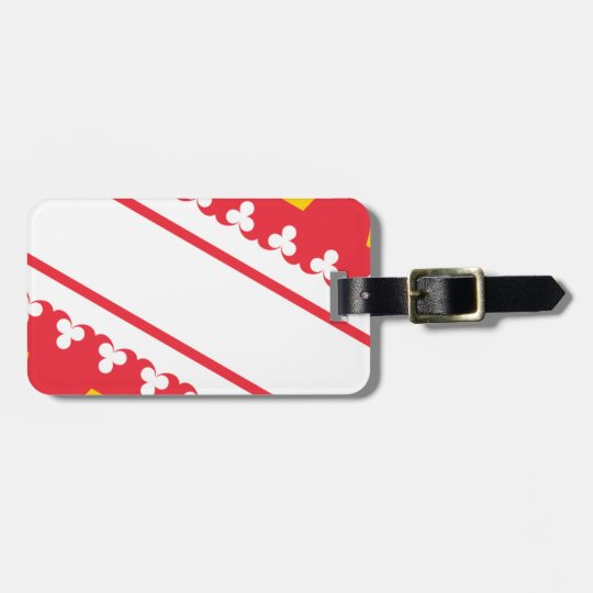 Flag Alsace (France) Drapeau Alsace Flagge Elsass Luggage Tag