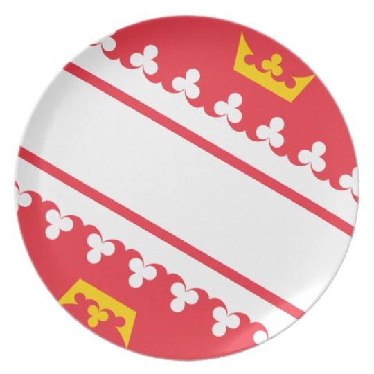 Flag Alsace (France) Drapeau Alsace Flagge Elsass Party Plate
