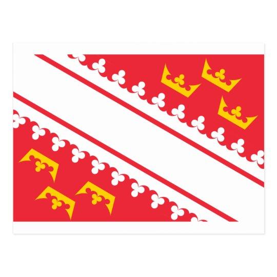 Flag Alsace (France) Drapeau Alsace Flagge Elsass Postcard