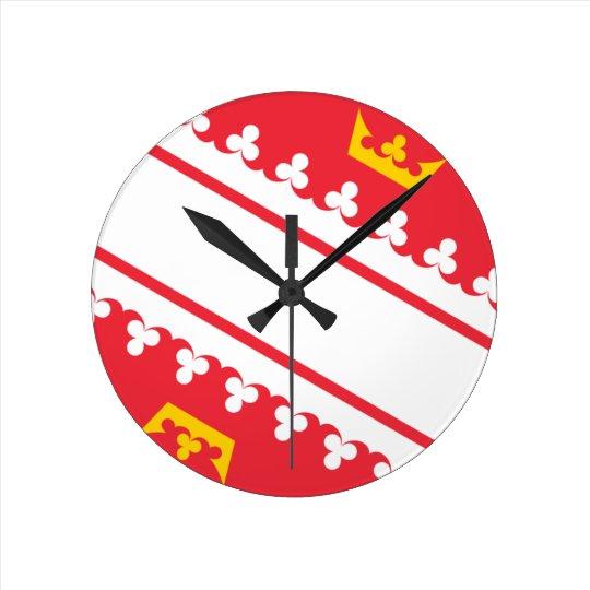 Flag Alsace (France) Drapeau Alsace Flagge Elsass Round Clock
