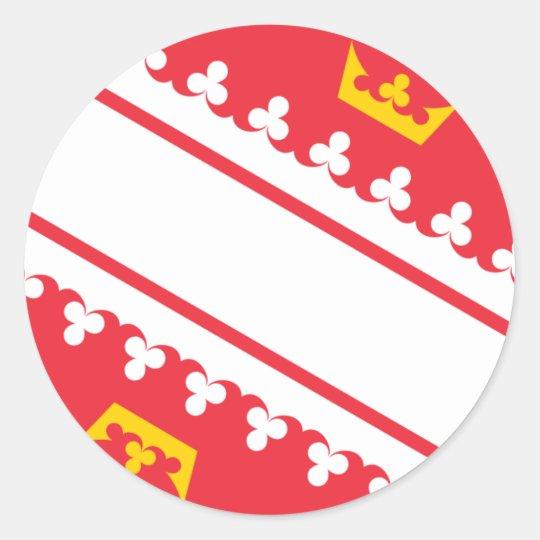 Flag Alsace (France) Drapeau Alsace Flagge Elsass Round Sticker