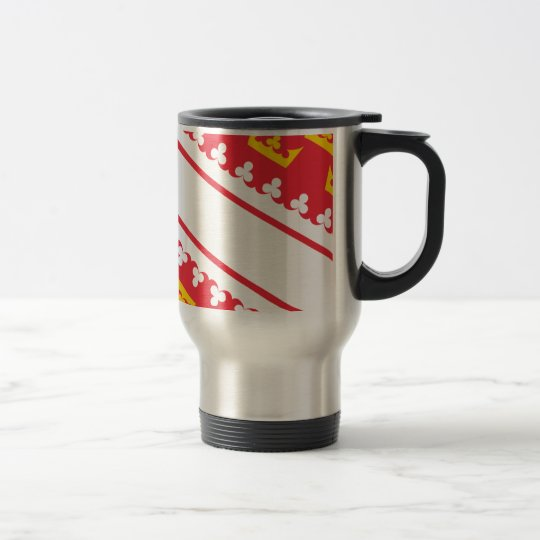 Flag Alsace (France) Drapeau Alsace Flagge Elsass Travel Mug