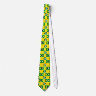 Flag and Crest of Brazil Tie