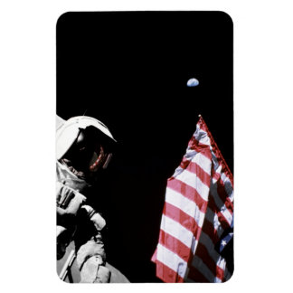 Flag and Earth Rectangular Photo Magnet