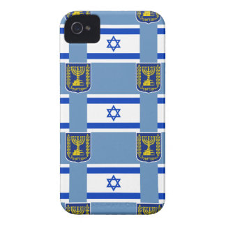 Flag and Emblem of Israel iPhone 4 Covers